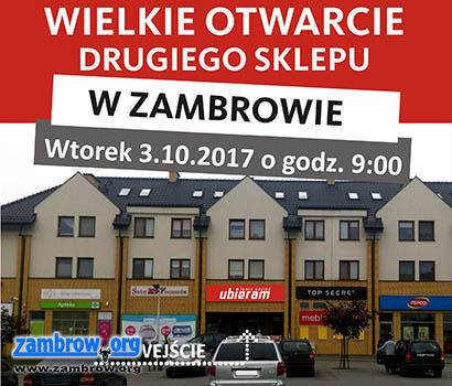 e2841b627b Wielkie otwarcie nowego sklepu z tanią odzieżą w Zambrowie Zambrów ...