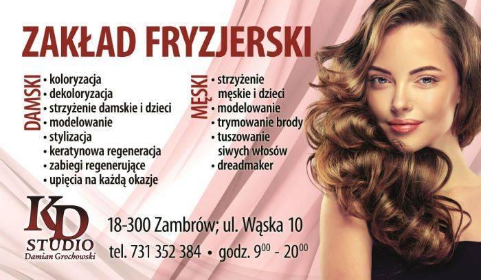 Nowy Elegancki Zakład Fryzjerski Kd Studio Godz 9 20